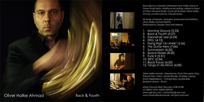 CD Cover Oliver Hafke Ahmad Back & Fourth